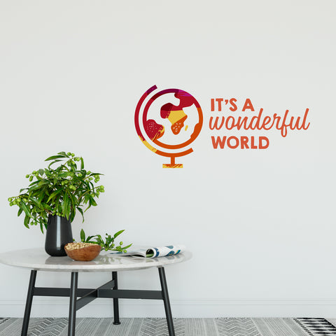 It's A Wonderful World Wall Sticker