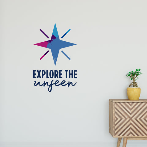Explore The Unseen Wall Sticker