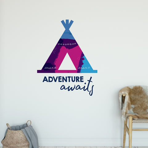 Adventure Awaits Wall Sticker