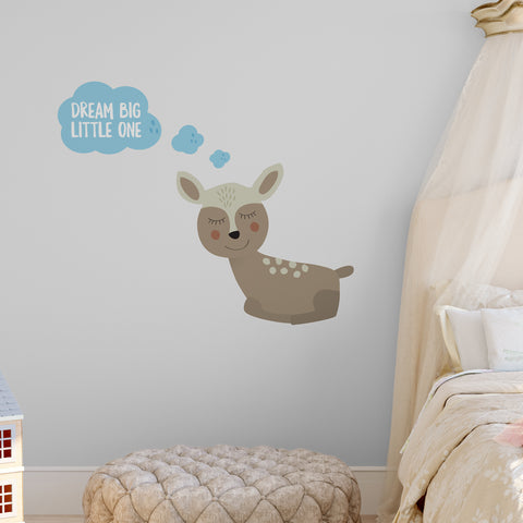 Dream Big Little One Deer Wall Sticker