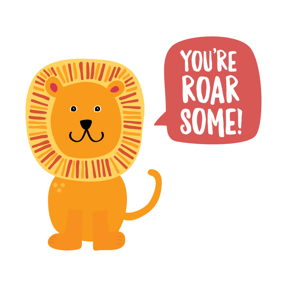 You're Roar Some! Lion Wall Sticker