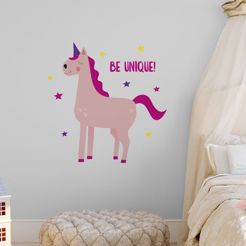 Be Unique Unicorn Wall Sticker