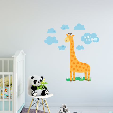 The Sky Is The Limit Giraffe Wall Sticker