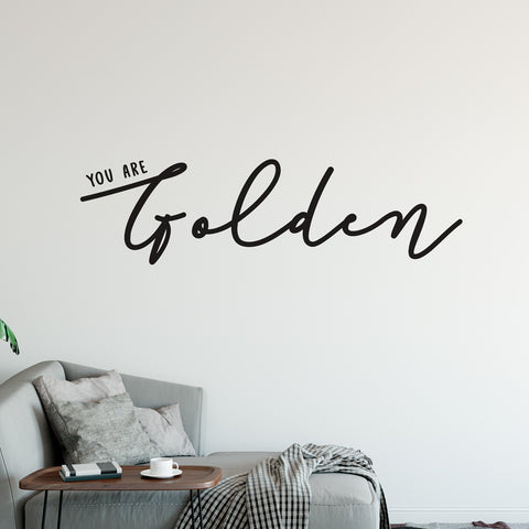 You Are Golden Wall Sticker