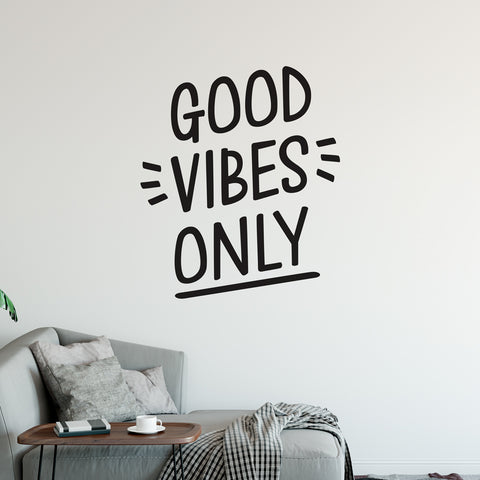 Good Vibes Only Wall Sticker