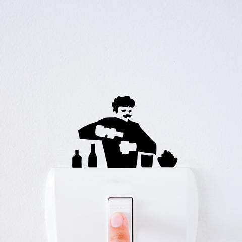 Bartender Light Switch Decal Sticker