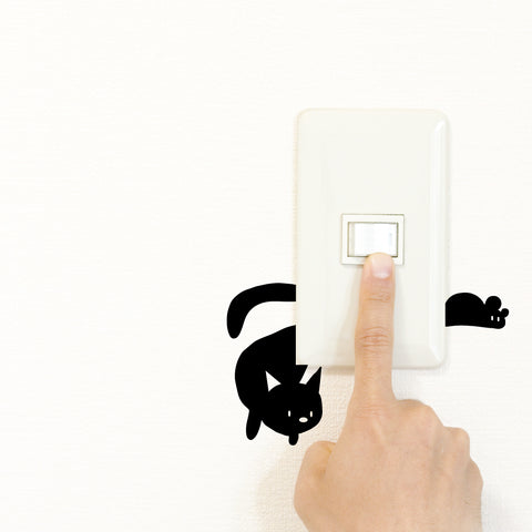 Cat 'n' Mouse Light Switch Decal Sticker