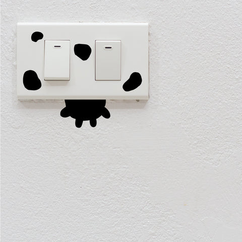 Cow Light Switch Decal Sticker