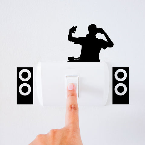 DJ Light Switch Decal Sticker