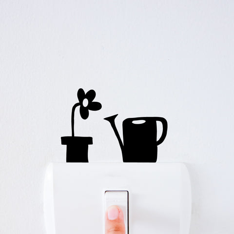 Garden Set Light Switch Decal Sticker