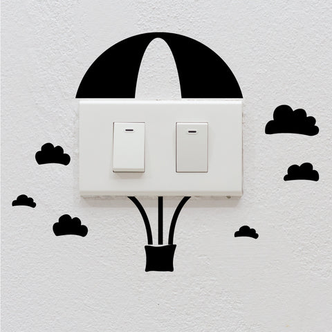 Hot Air Balloon Light Switch Decal Sticker