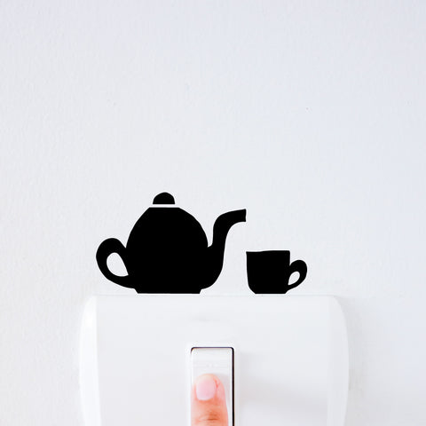 Tea Time Light Switch Decal Sticker
