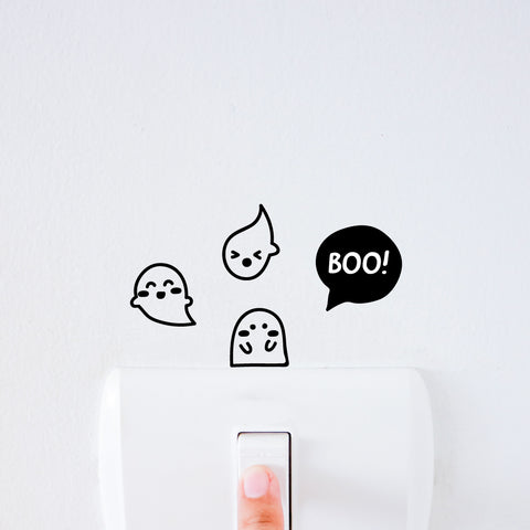 Ghosts Light Switch Decal Sticker