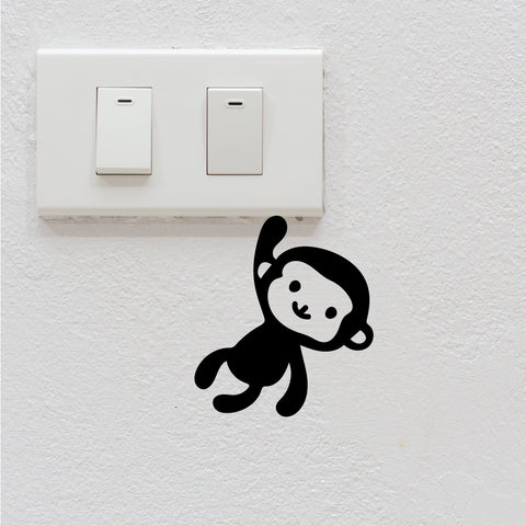 Monkey Light Switch Decal Sticker