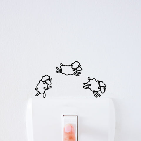 Counting Sheep Light Switch Decal Sticker
