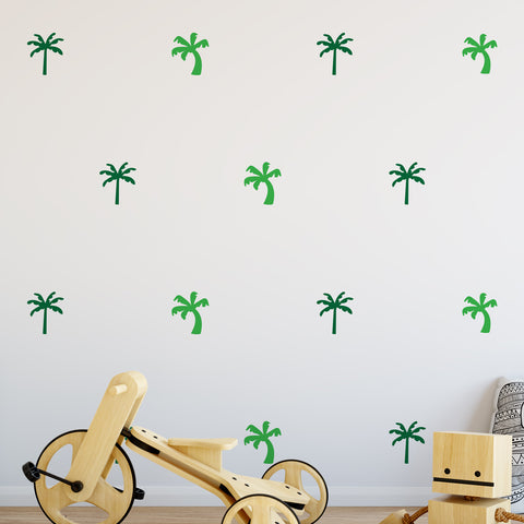 Palm Trees Wall Pattern Decal - Set of 18