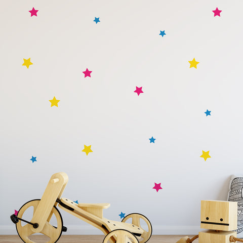 Stars Colour Pattern Decal - Set of 19