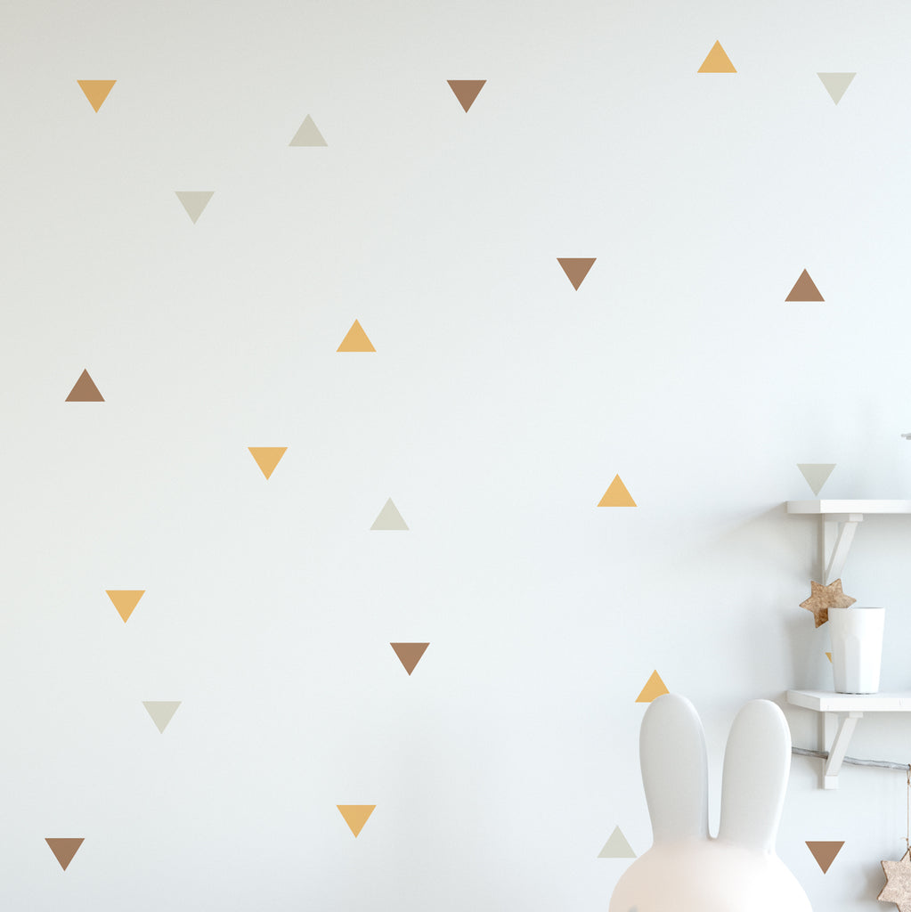 Triangle Colour Wall Pattern Decal - Set of 36