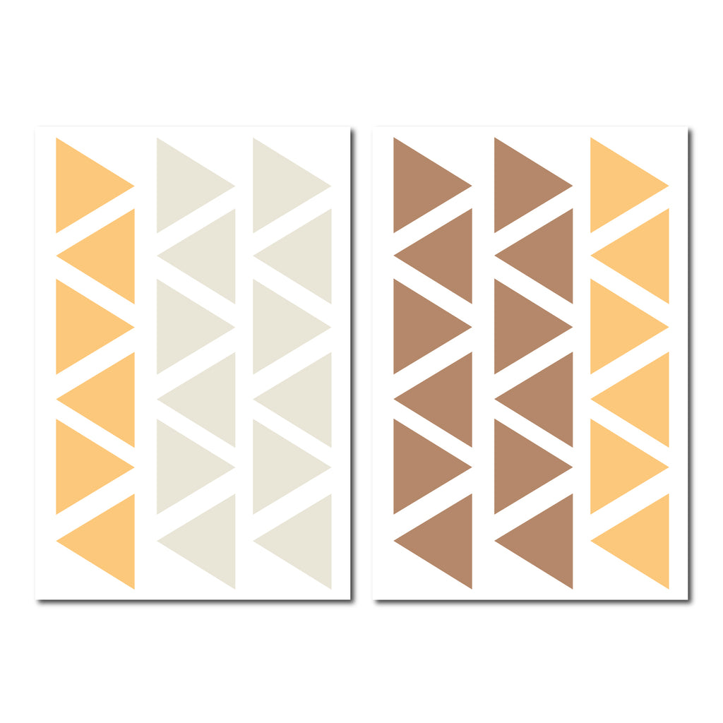 Triangle Colour Wall Pattern Decal