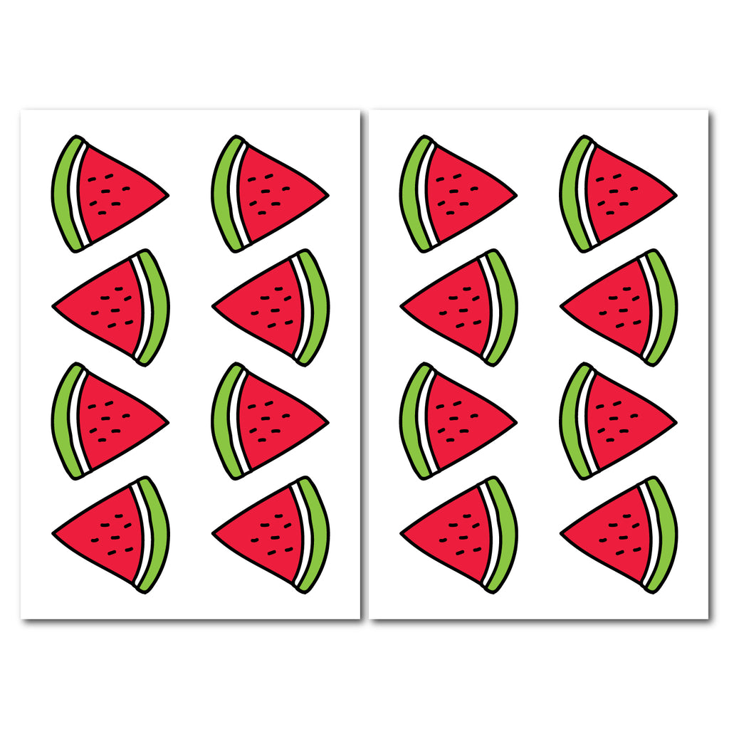 Watermelon Pattern Decal - Set of 16
