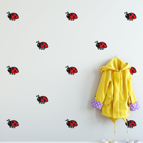 Ladybug Pattern Decal - Set of 16