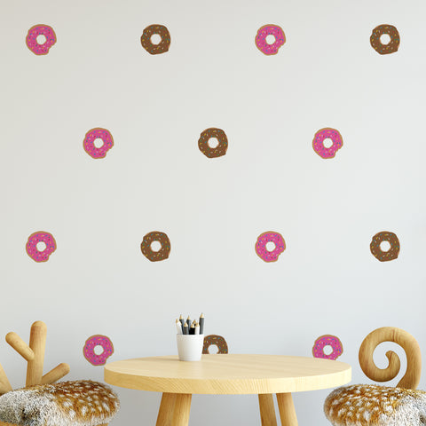 Donut Pattern Decal - Set of 16