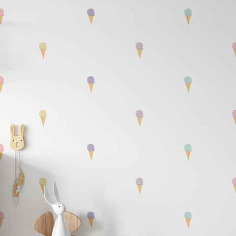 Ice Cream Pattern Decal - Set of 70