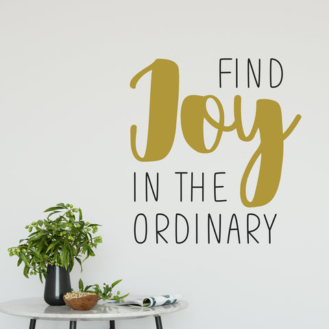 Find The Joy In The Ordinary Wall Sticker