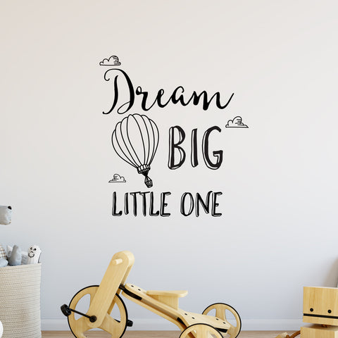 Dream Big Little One Clouds Wall Sticker