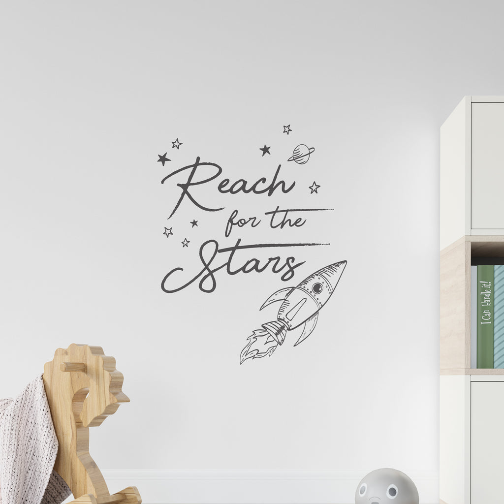 Reach For The Stars Rocket Wall Sticker