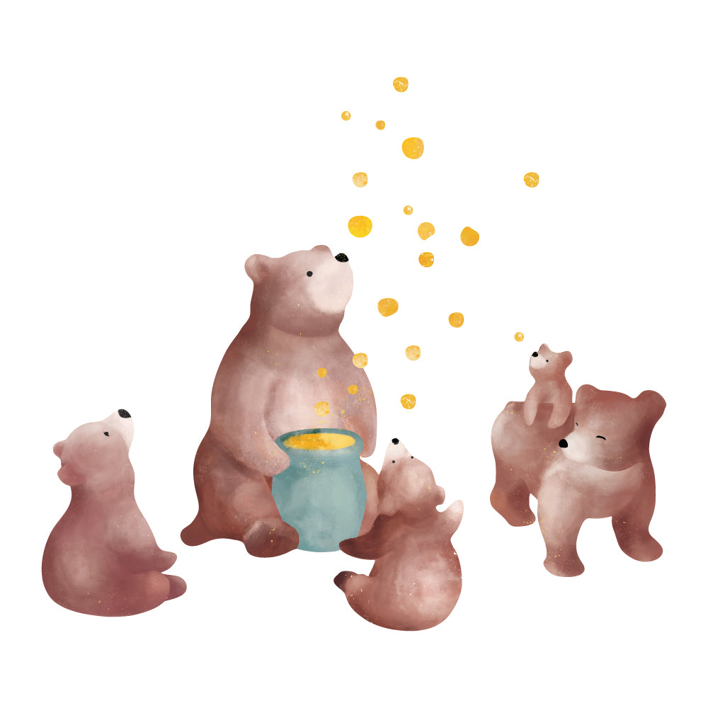 Bear Sweet Innocence Wall Sticker