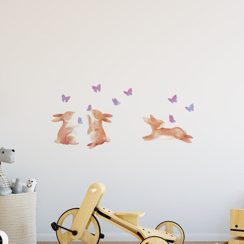 Bunny & Butterflies Sweet Innocence Wall Sticker