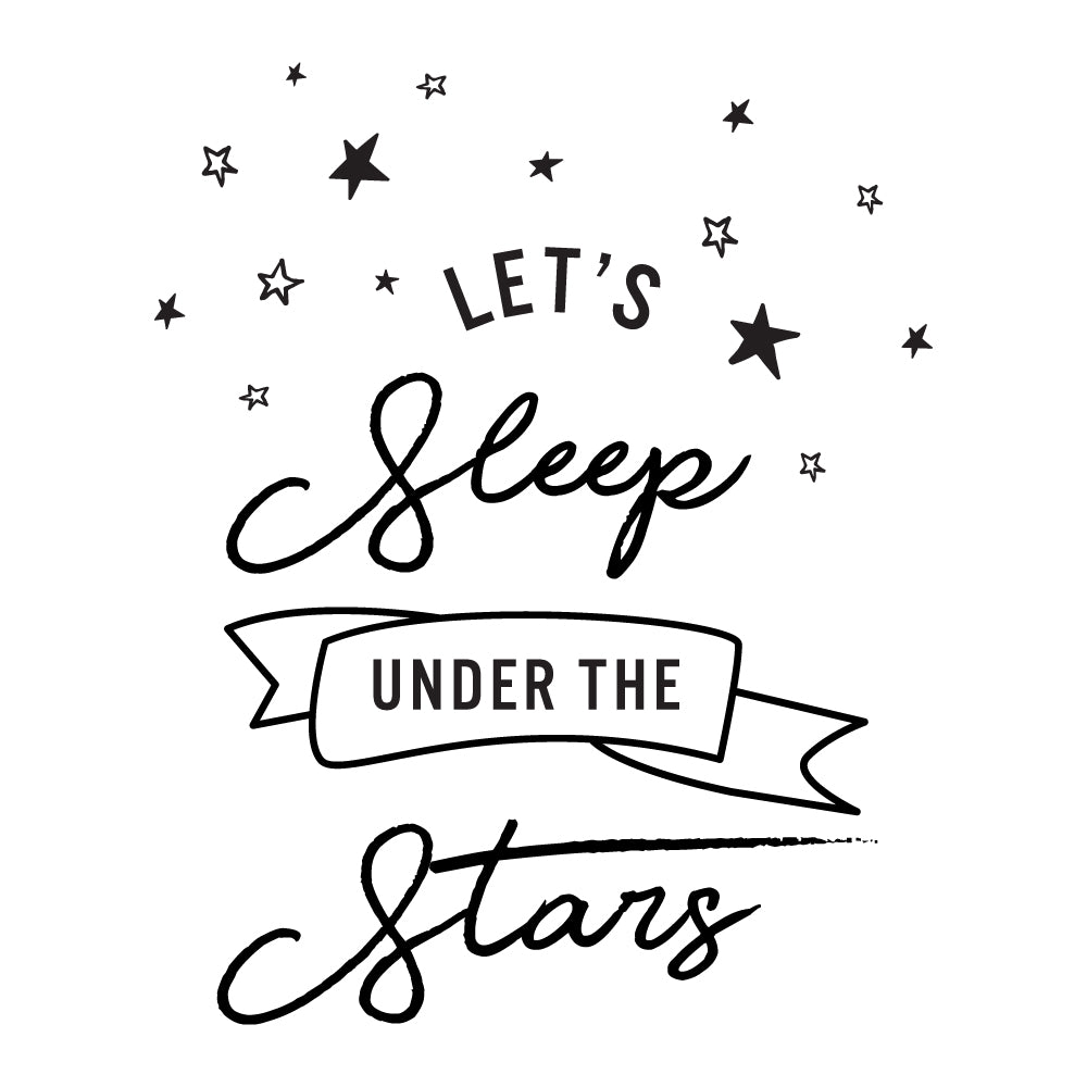 Lets Sleep Under The Stars Wall Sticker
