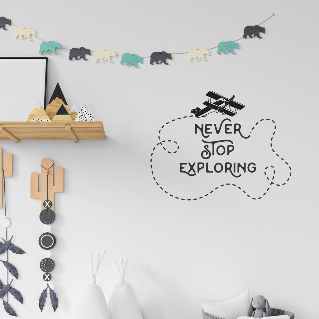Never Stop Exploring Wall Sticker