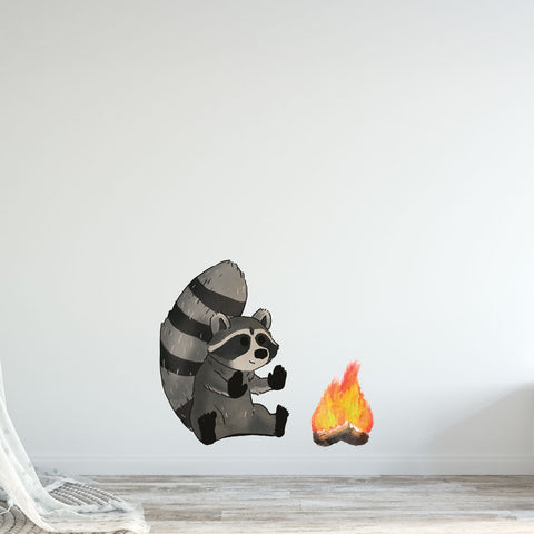 Raccoon & Fire Woodlands Collection Wall Sticker