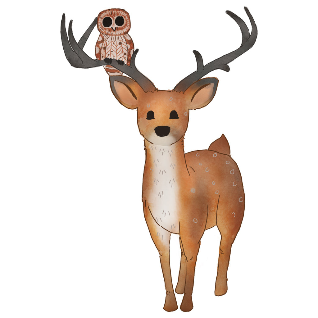 Deer Woodlands Collection Wall Sticker