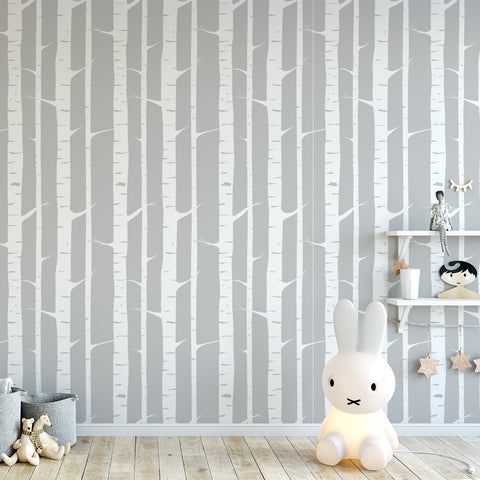 Birch Trees Wallpaper Sample