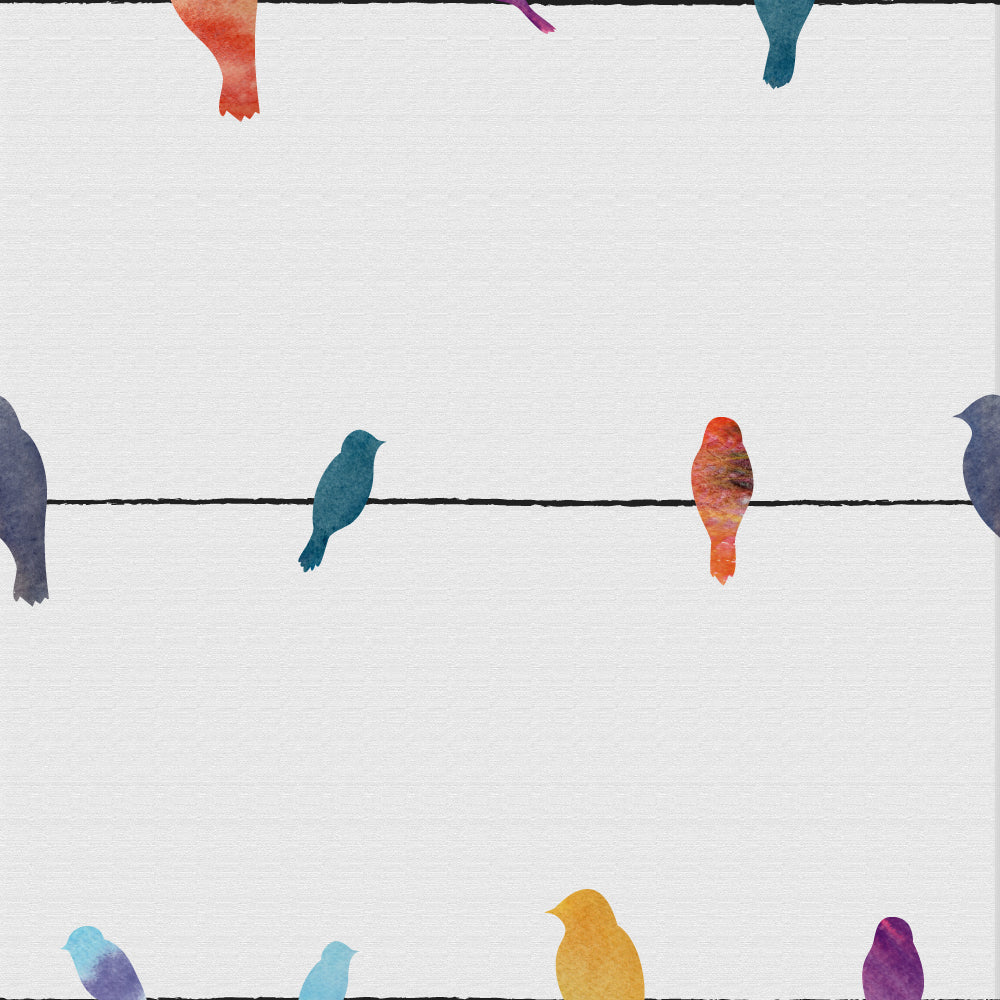 Birds On Line Wallpaper