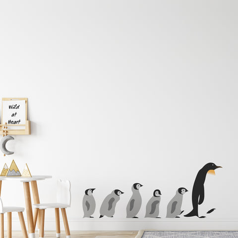 Penguin March Wall Sticker