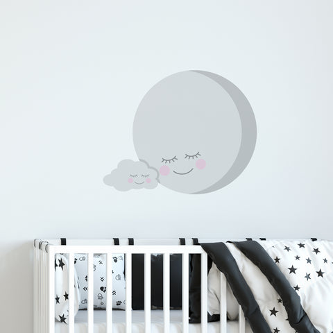 Moon & Cloud Wall Sticker