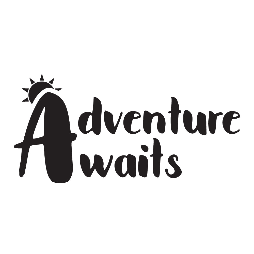 Adventure Awaits Quote Wall Sticker