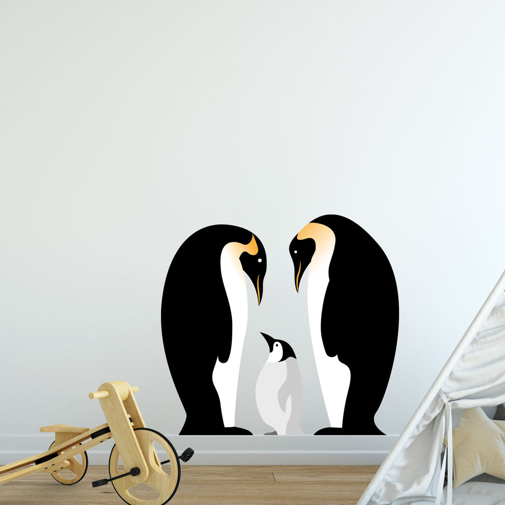 Penguin Family Wall Sticker