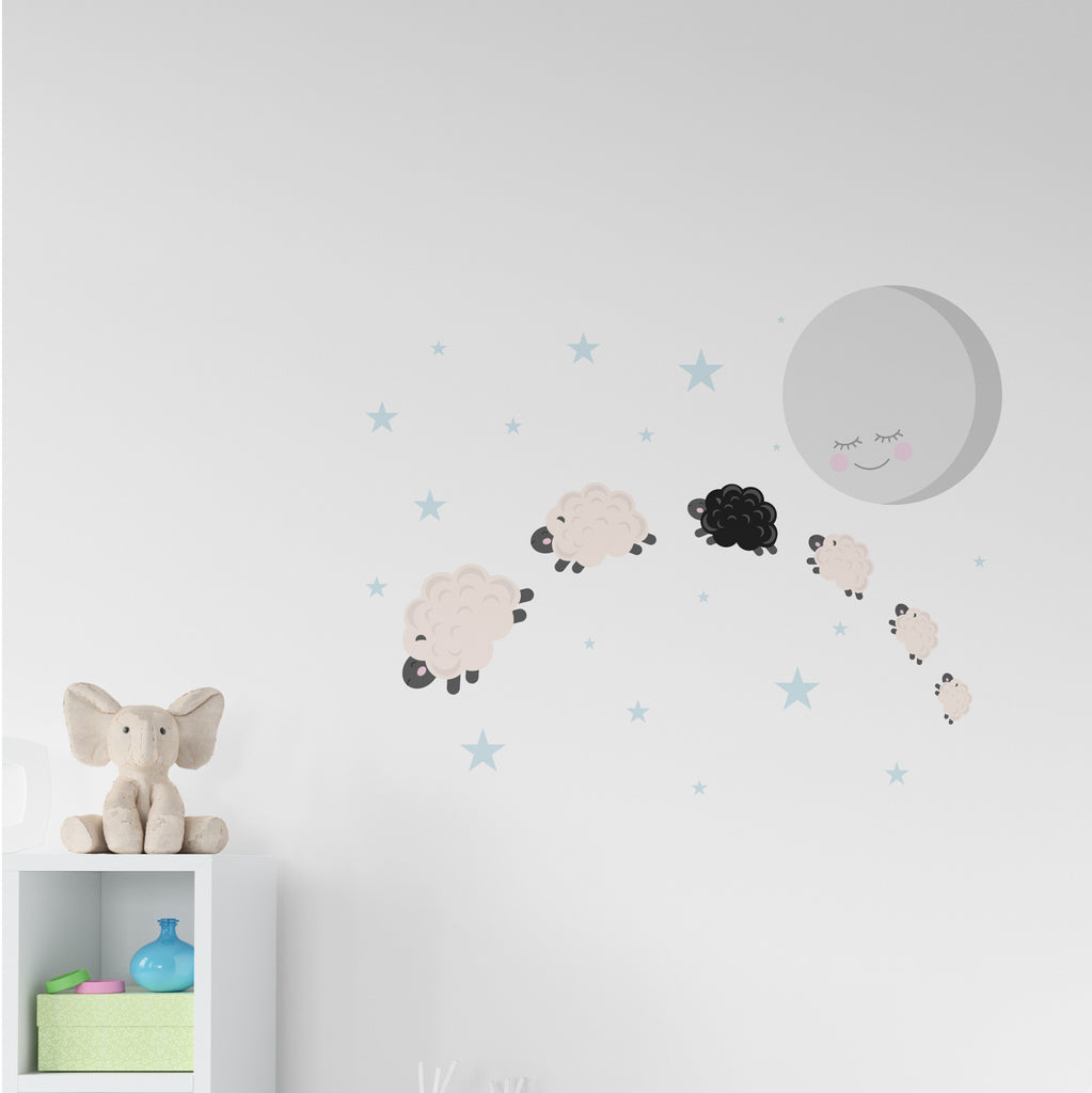 Counting Sheep Nursery Set Wall Sticker
