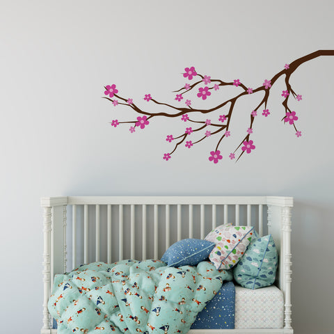 Cherry Blossom Tree Branch Wall Sticker
