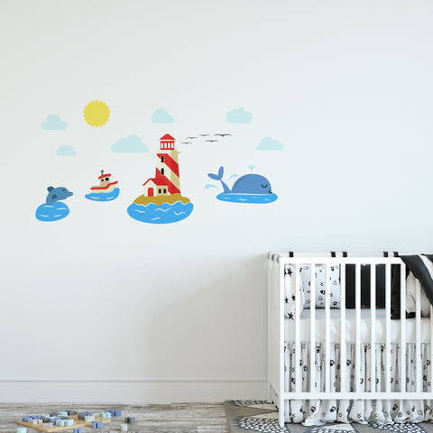 Lighthouse Nursery Set Wall Sticker