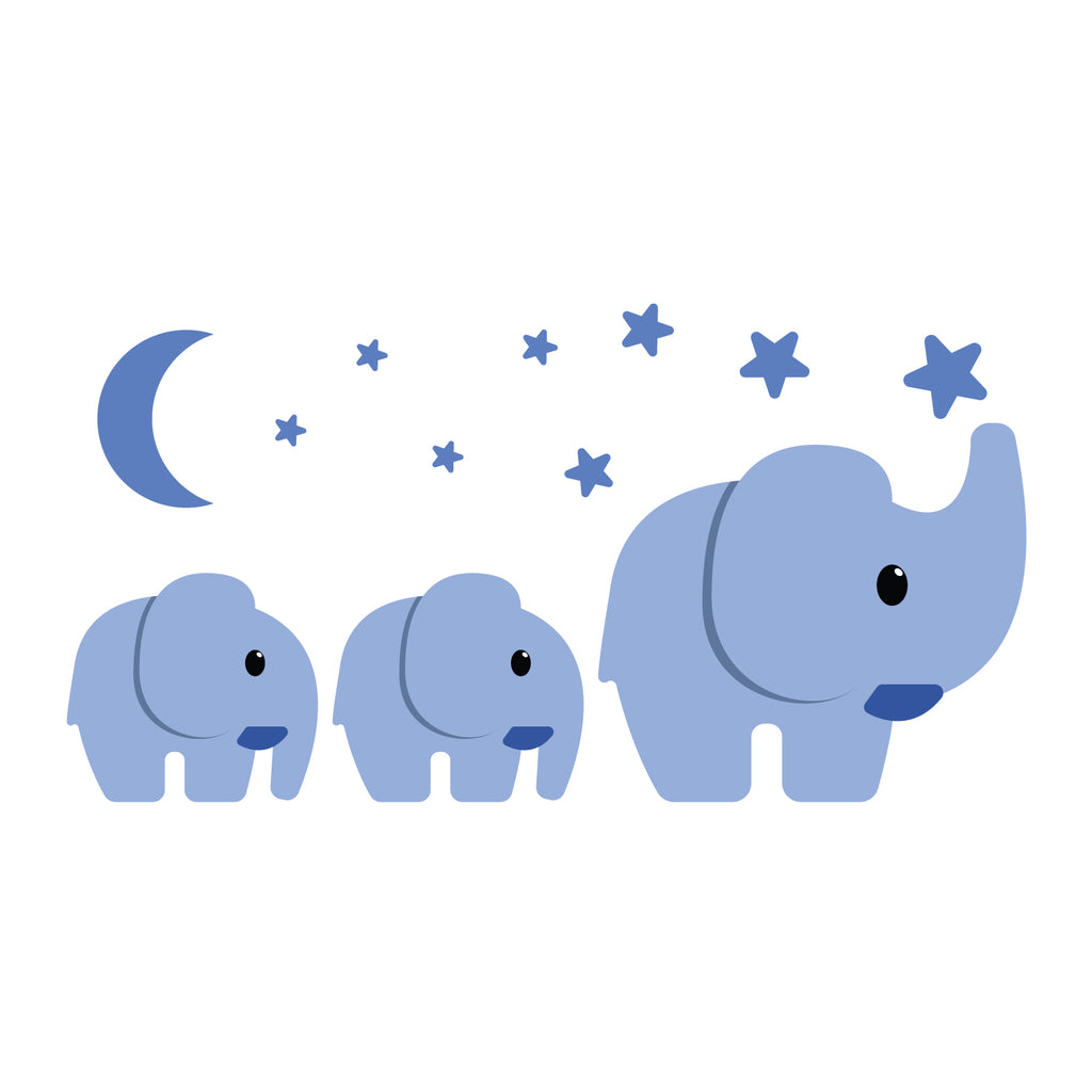 Elephant Family Nursery Set Wall Sticker