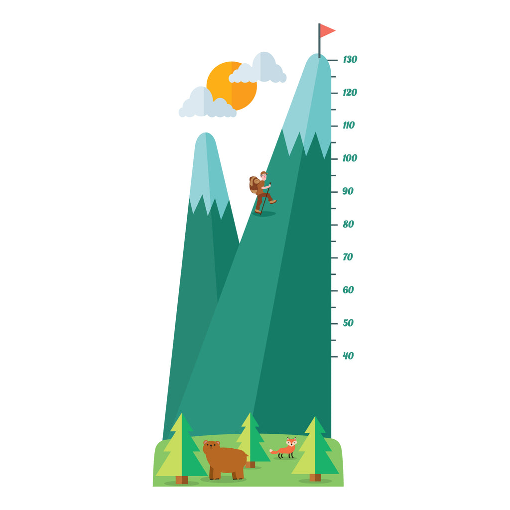 Mountain Height Chart Wall Sticker