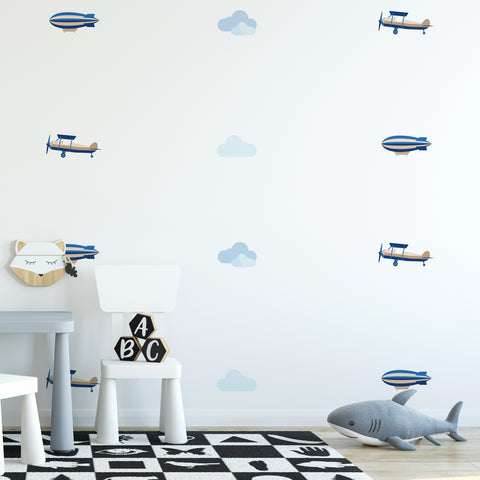 Plane & Blimp Pattern Decal - Set of 32