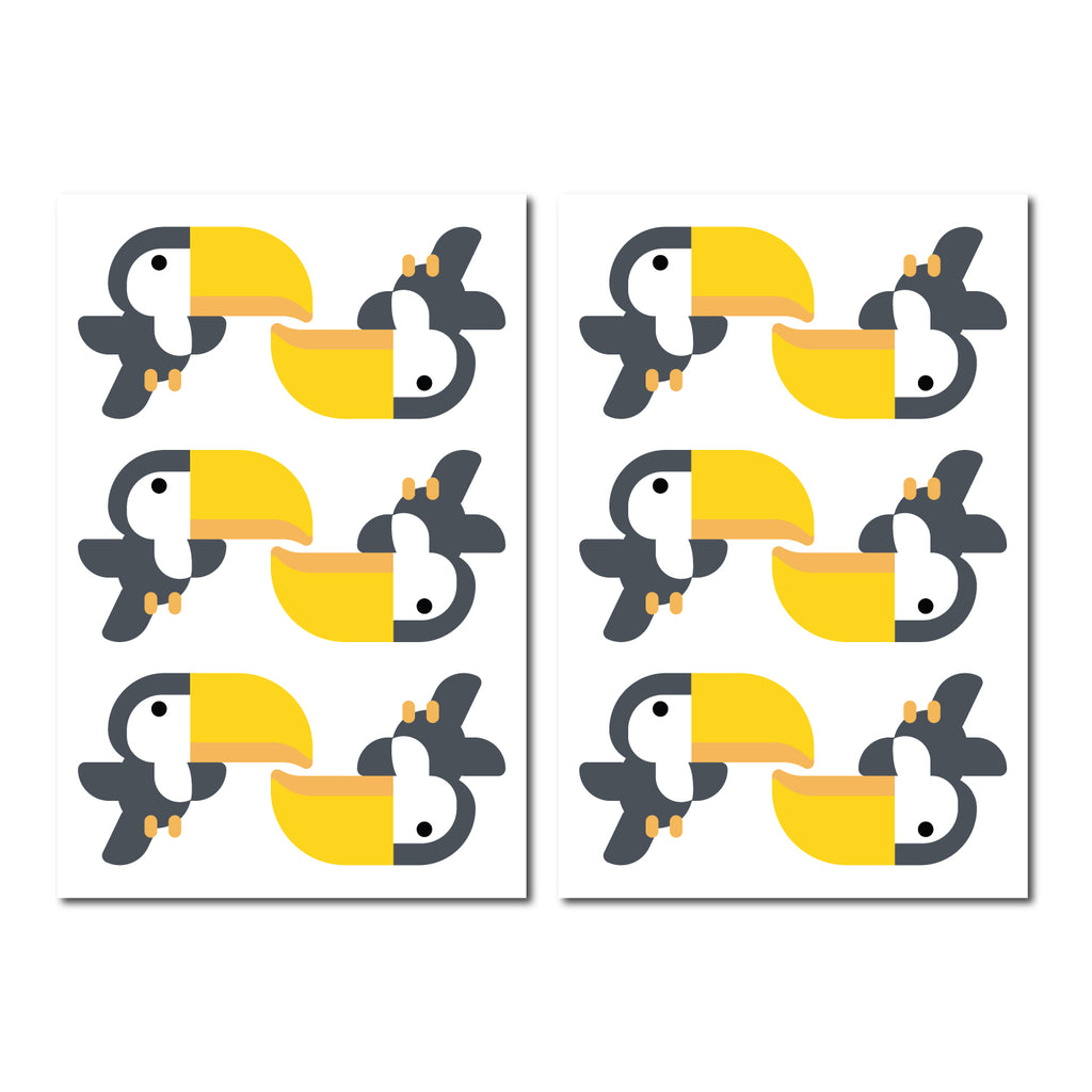 Toucan Pattern Decal - Set of 12