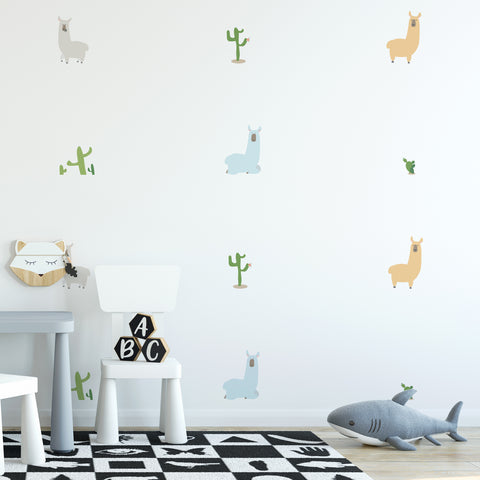 Llama Pattern Decal - Set of 14